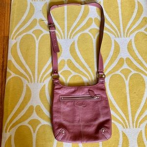 Coach crossbody in dusty pink leather